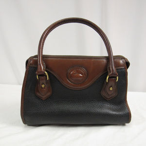 Dooney & Bourke Vintage Black Brown Satchel Purse